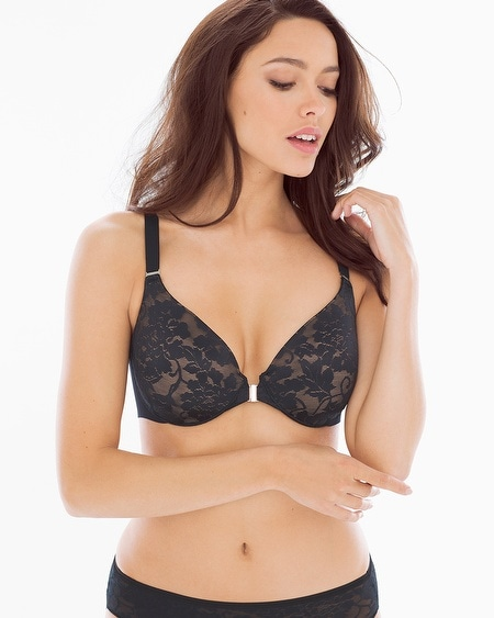 Full Coverage Front Close Lace Bra