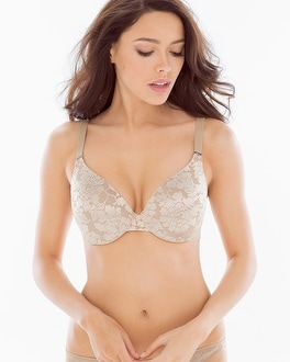 Vanishing Back Full Coverage Floral Lace Bra