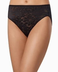 Vanishing Edge Floral Lace High Leg Brief