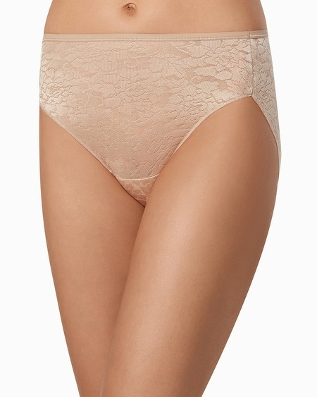Floral Lace High Leg Brief