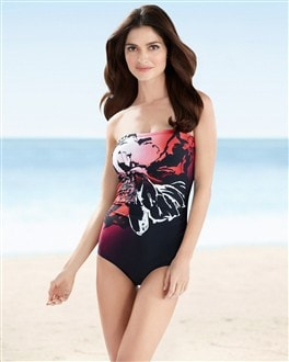 Christina Floral Bandeau One-Piece