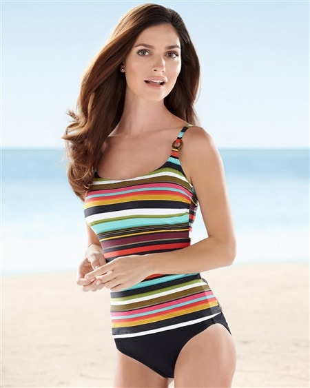 Captiva Multi Striped Tankini Top/ Sizes S-XL