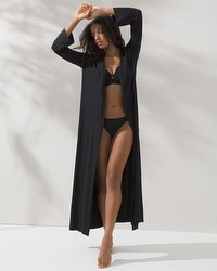 Cool Nights Long Robe Black