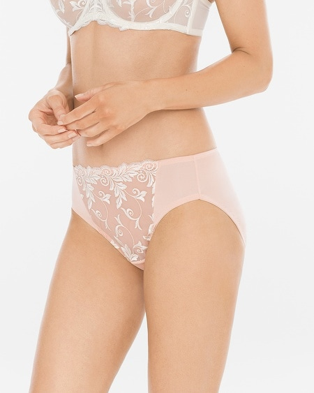 Sensuous Lace High Leg Brief