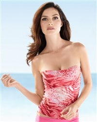 Natori Animal Strapless Tankini Top