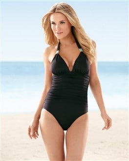 Hermanny Solid Halter One Piece
