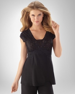 Floral Lace Cap Sleeve Top