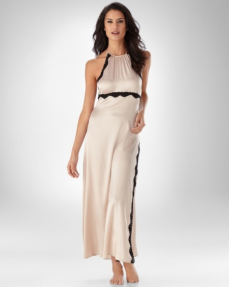 Silk Halter Long Gown