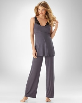 Midnigh By Carole Hochman Heart's Desire PJ Set