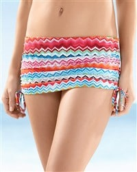 La Blanca Tropical Sunset Skirted Hipster Bottom