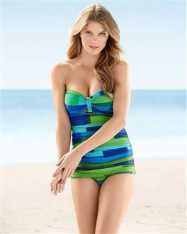 La Blanca Blue Horizon Tummy Control Skirt One Piece