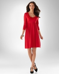 Neckline Applique Dress