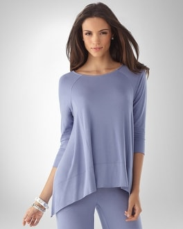 Soft Jersey Boatneck 3/4-Sleeve Top