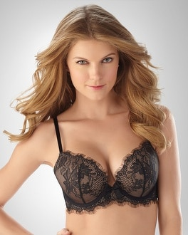 Limited Edition Ravishing Plunge Push Up Noir Bra