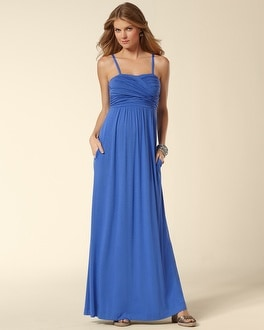 Twisted Bodice Maxi Dress