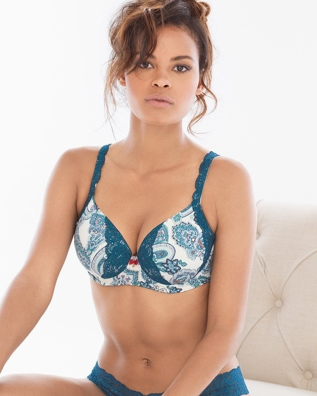 Full Coverage Lace Trim Bra