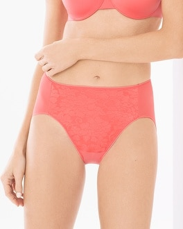 Vanishing Tummy Floral Lace High Leg Brief