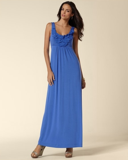 Chiffon Appllique Maxi Dress
