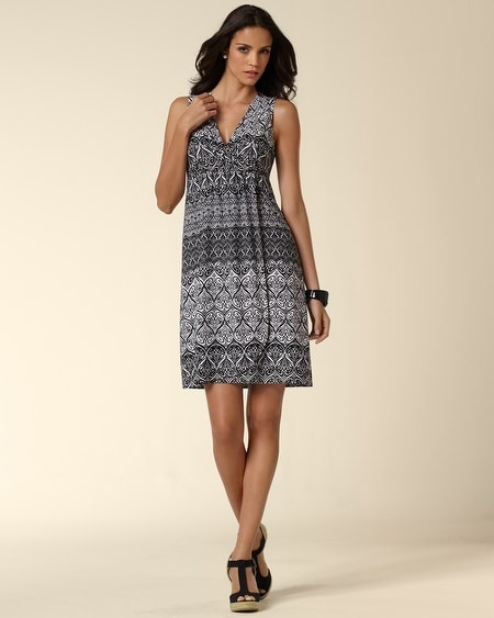 Faux Front Wrap Dress