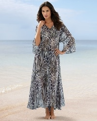 Be Creative Animal Tones Caftan Coverup