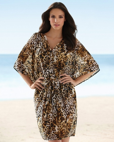 Christina Animal Caftan Swim Coverup