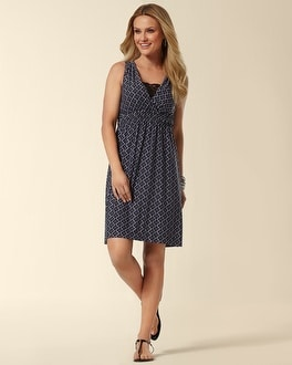 Shirred Waist Short Dress