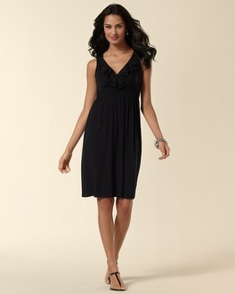 Ruffle Trim Dress