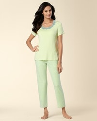 Embraceable Cool Nights Square Dot Lime Parfait PJ Set