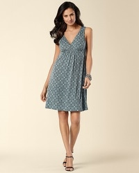 Surplice Short Dress