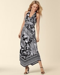 Halter Scarf Hem Maxi Dress