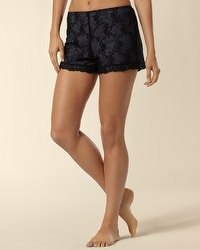 Embroidered Mesh Short