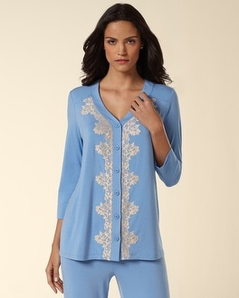Embraceable Cool Nights Collection Wishful Blue Cardigan