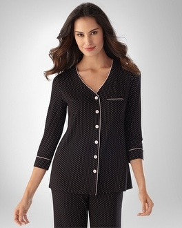 Embraceable Cool Nights Little Dot Black/Pink PJ Cardigan