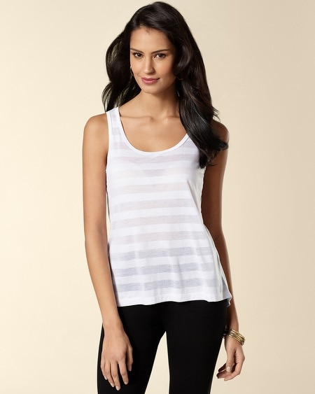White Burnout Long Tank