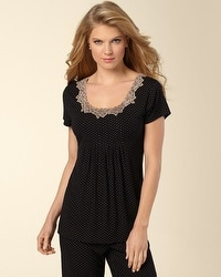 Embraceable Little Dot Short Sleeve Top