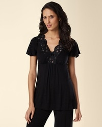 Untamed Black V-Neck Top