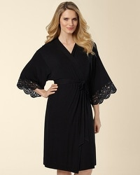 Untamed Black Short Robe
