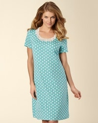 Embraceable Cool Nights Big Dot Teal Sleepshirt