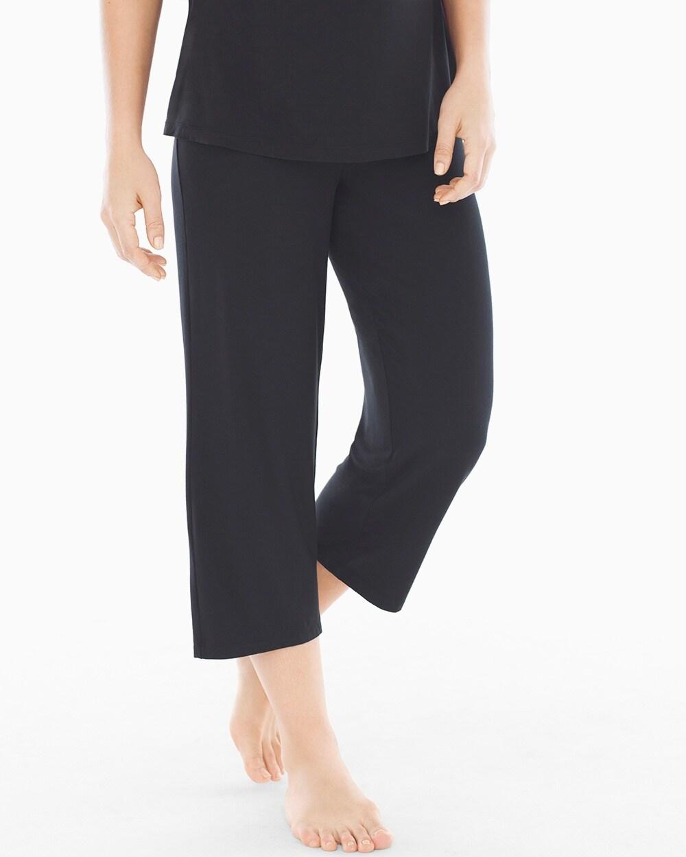 4b1cd60ac7d Crop Pajama Pant Black - Soma