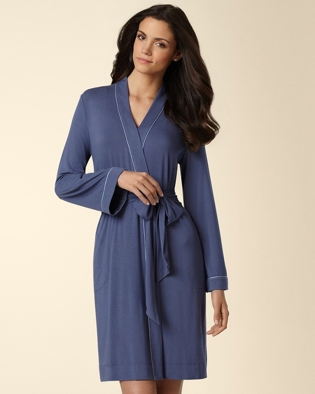 Satin-Piped Robe