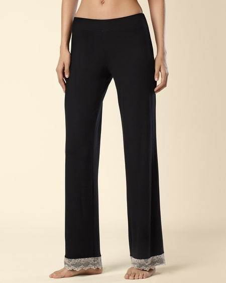 Sheer Beauty Sleep Pant Black