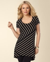 Fundamental Stripe Short Sleeve Tunic