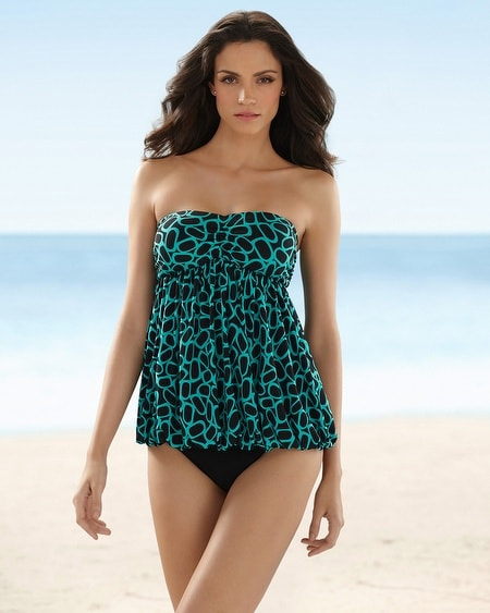 Magicsuit Bubbles Bandeau Swim Tankini Top