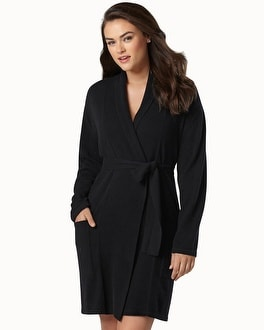 Arlotta Short Cashmere Robe Black