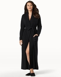 Arlotta Long Cashmere Robe Black