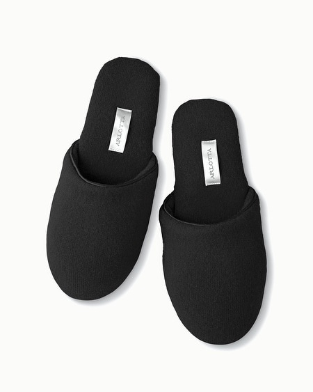 Cashmere Slippers Black