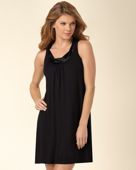 Forever and Always Sleep Chemise Black
