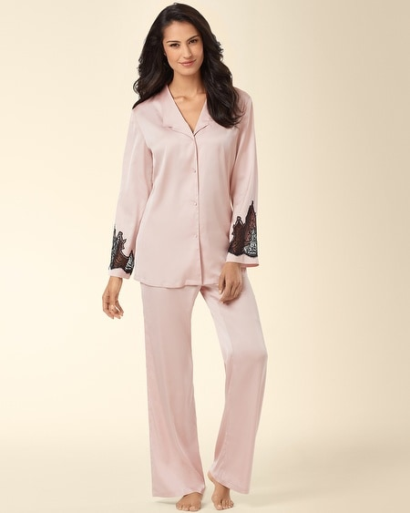 Satin Charmeuse Pajama Set Flesh