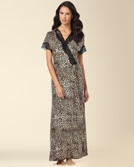 In Bloom by Jonquil Long Robe Leopard