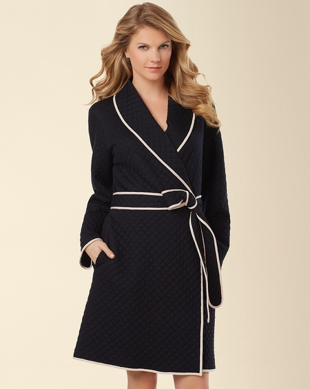 Mad about You Quilted Robe Black